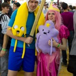 Gli unici cosplayer di Adventure Time! Finn, Bubblegum, Jake e LSP! :D