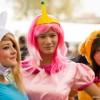 Fionna, Princess Bubblegum e Jake in versione femminile, tratte da Adventure Time