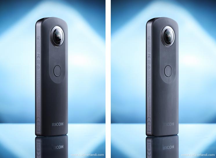 Foto finale a sinistra, foto senza cartoncino nero a destra.