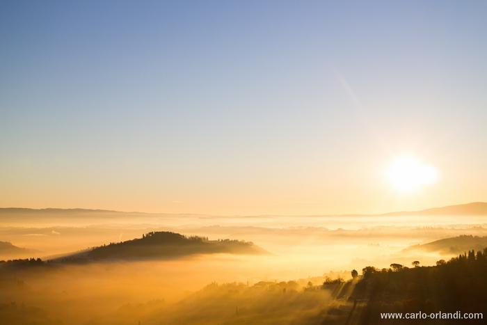 """Paesaggio all'alba -  """"Valle di San Gimignano"""""""