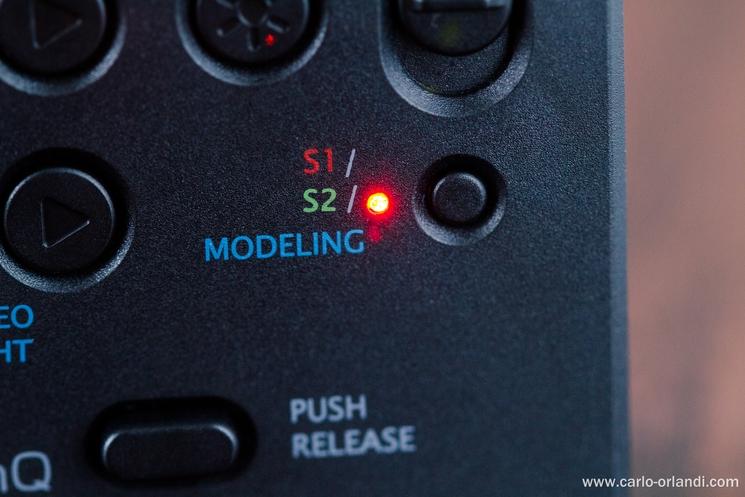 Il pulsante di cambio della modalità.