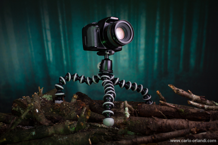 Octopus Tripod con una reflex entry level.