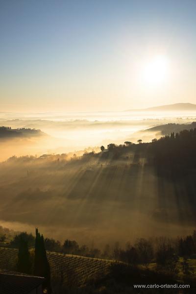 """Paesaggio all'alba - """"Alba dalla Cisterna"""""""