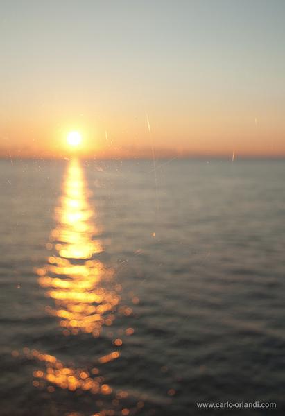 """Paesaggio all'alba - """"L'alba dalla nave"""""""