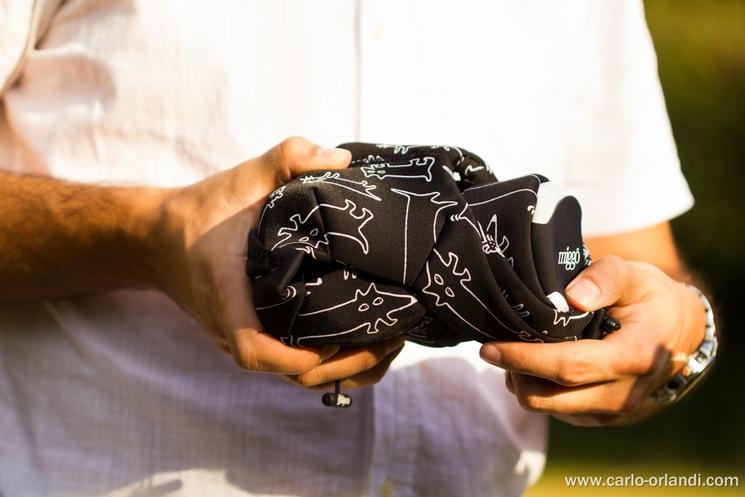 Il Grip&Wrap una volta chiuso intorno alla macchina fotografica