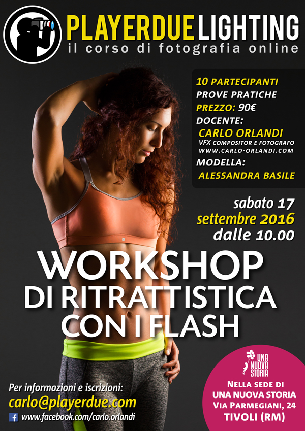 Workshop di ritrattistica con i flash