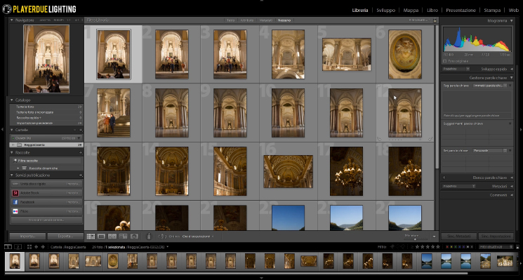La libreria di Lightroom
